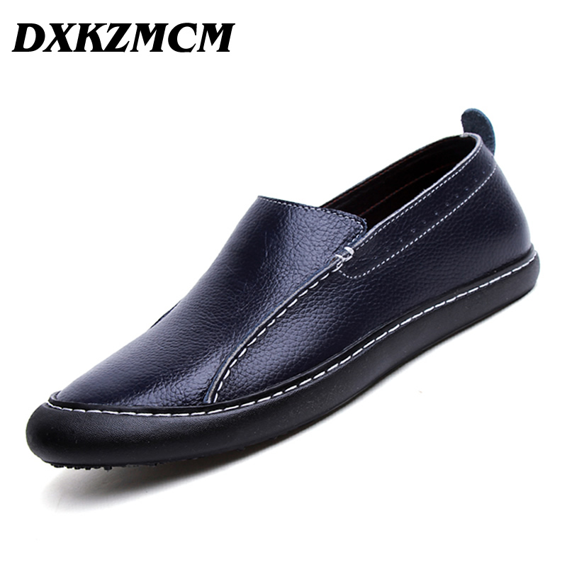 DXKZMCM Genuine Leather Men Shoes Soft Moccasins Loafers Fashion Brand Men Casual Comfy Driving Shoes dxkzmcm genuine leather fashion mens casual shoes cowhide driving moccasins handmade slip on loafers