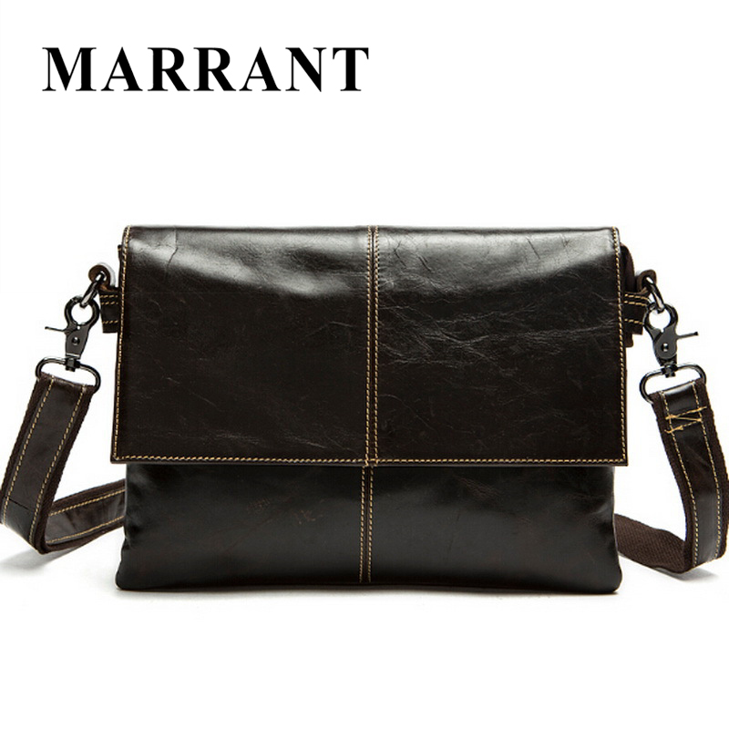 ФОТО MARRANT Genuine Leather Men Bag Men Messenger Bags Shoulder Crossbody Bags for Man Handbag Casual Men's Leather Bag Hot Sale