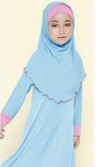 retail cotton islamic clothing baby girls sets kids clothes muslim