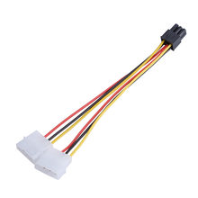 2 IDE Dual 4Ppin Molex IDE Male to 6 Pin Female PCI-E Y Molex IDE Power Cable Adapter Connector for video cards Accessories New(China)