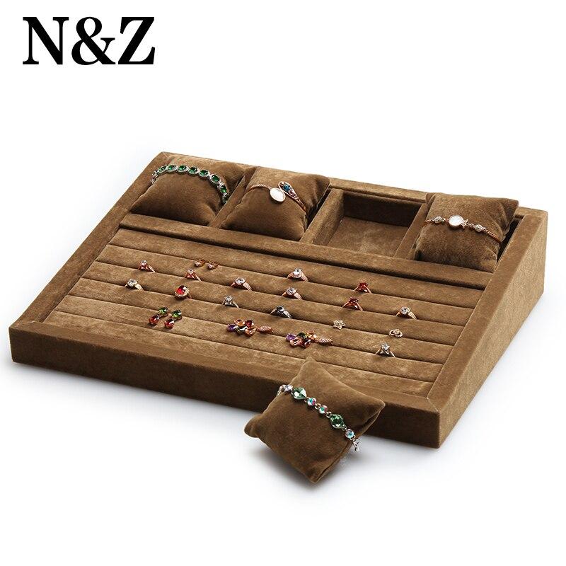 N & Z haute qualité mixte bijoux ensemble présentoir collier Stand boîte porte-anneau boucles d'oreilles organisateur pendentif vitrine pour les femmes