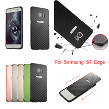 For Samsung GALAXY S7 Edge G9350 Case Aluminum Metal Frame+Carbon Fiber Hard Back Cover Case for Samsung GALAXY S7 Edge S 7 Edge samsung s view cover для samsung galaxy s7 edge