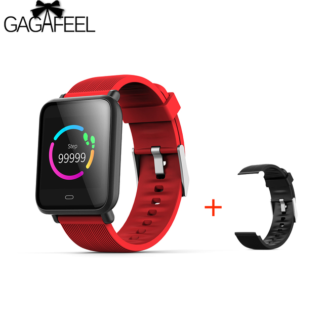 GAGAFEEL Q9 Smartwatch Waterproof For Android IOS Heart Rate Monitor Blood Press