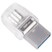 Kingston DataTraveler MicroDuo 3C 16GB 32GB 64GB 128GB USB3 1 Type C OTG Dual Flash Drive