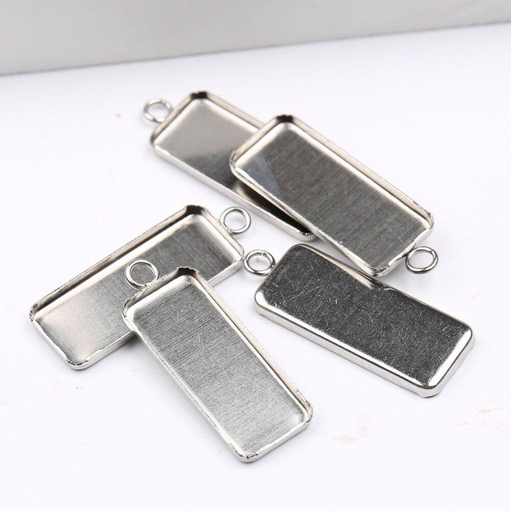 10 шт., прямоугольные подвески для ожерелья, 10 х25 мм