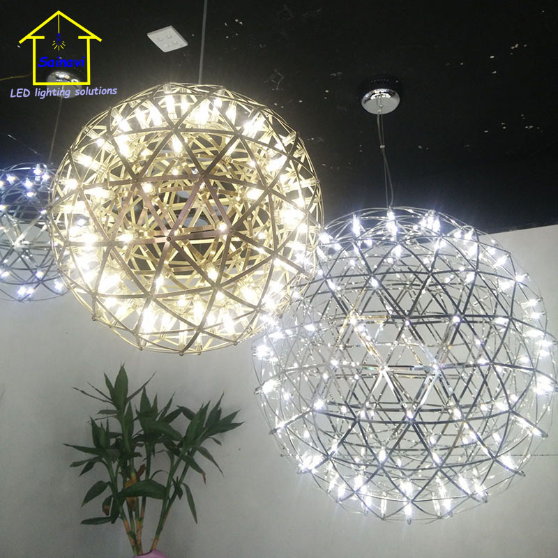 Sainavi Stainless Steel Led Pendant Light Firework Lamp