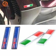Autocollants Aufkleber Naklejki Stiker Tarrat Car Auto 3M 3D Sticker Russia US Italy Spain Flag Samolepky Lipdukai