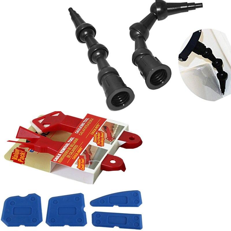 Free Shipping 2pcs 360 Degree Rotating Sealant Nozzle And Caulking Finishing Tool Sealant Removal Tool PRO