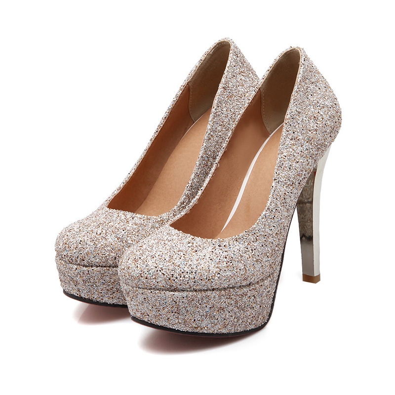 Popular Gold Sequin Pumps-Buy Cheap Gold Sequin Pumps lots from ...