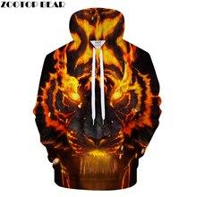 Fuego Tigre hombres Sudaderas con capucha para hombre animado chándal 3d  impresión Pullover Streetwear Hip Hop 20665c42e02