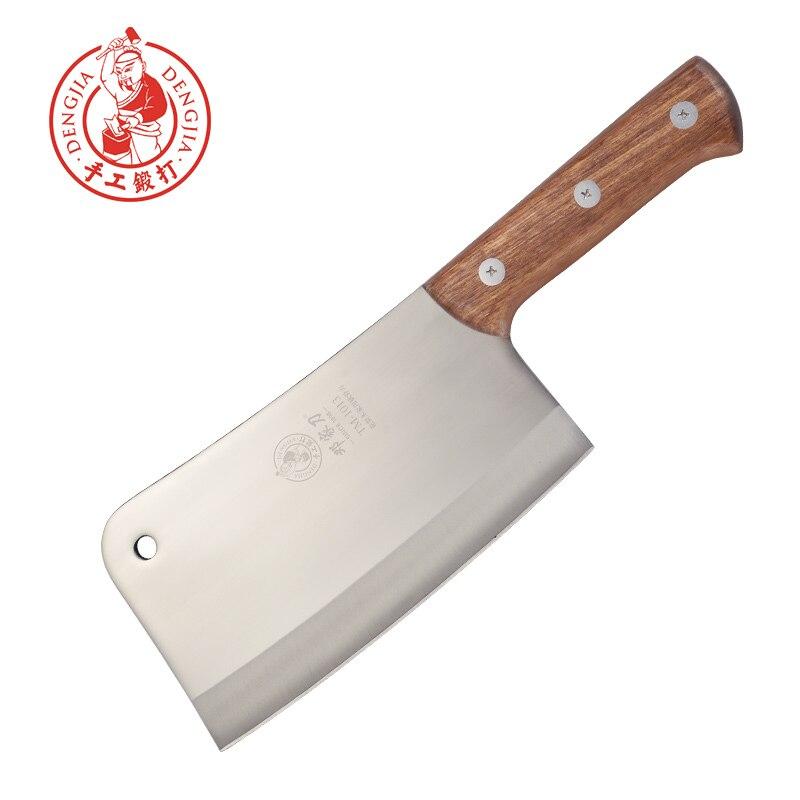 DENG lame chinoise faite à la main en acier inoxydable forgé cuisine hachoir couteau ménage viande couperet couteau pour os de poulet et de poisson