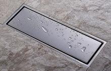 304 katı paslanmaz çelik 300x110mm kare anti koku kat drenaj banyo görünmez duş zemin drenaj DR053