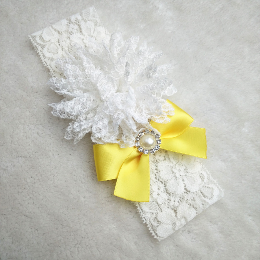 1 Pcs Hot Sexy Vintage Bridal Yellow Ribbon Bow Garter