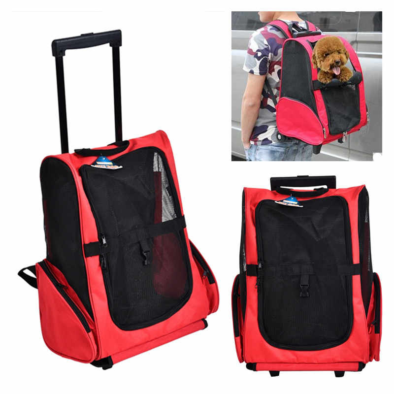 2 Ways To Use Carrying Bag Pet Cat Breathable Outdoor Portable Packaging Bag Pet Puppy Travel Backpack For Dogs Carrier Stroller