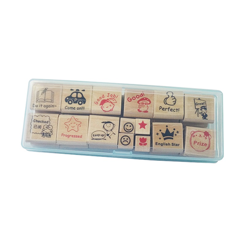 4 Set/lot Wood Cartoon For Kindergarten Nurse School Teacher Reviews Teachers Encourage Rubber Stamp Kids Unique Gift Wholesale cartoon wood