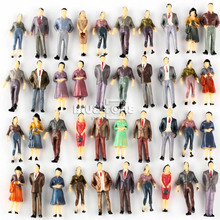 100 figuras de personas modelo Passenegers Train Scenery 1:50 O Scale Mixed Color Pose