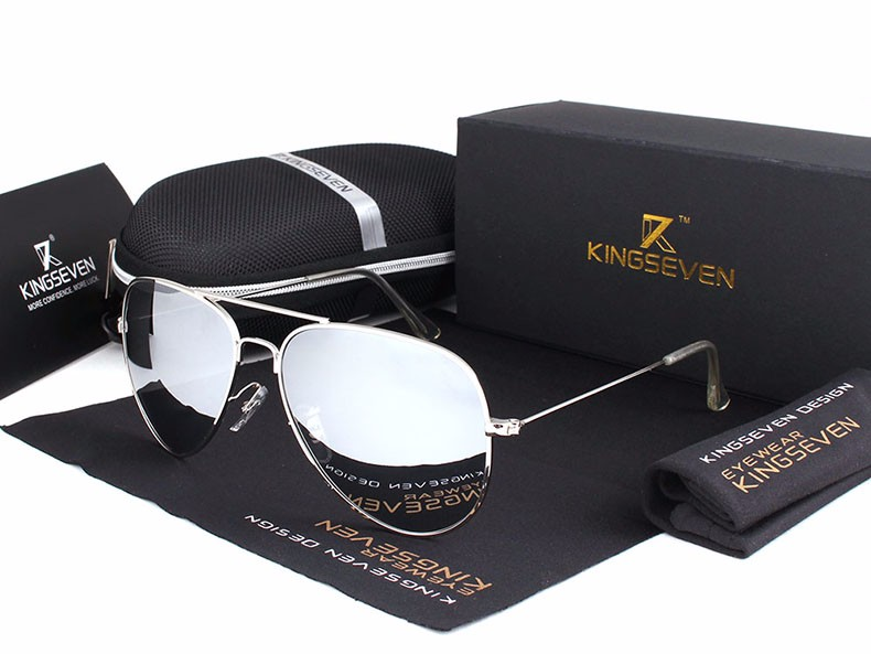 58mm Retro Sunglasses Women Kingseven Luxury Brand Female Sun glasses For Women 16 Fashion Oculos Designer Shades Unisex 3025 13
