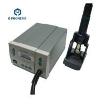 PHONEFIX Original QUICK 861DW 1000W Hot Air Rework Station Soldering Station 110V 220V Rework Station With Different Size Nozzle