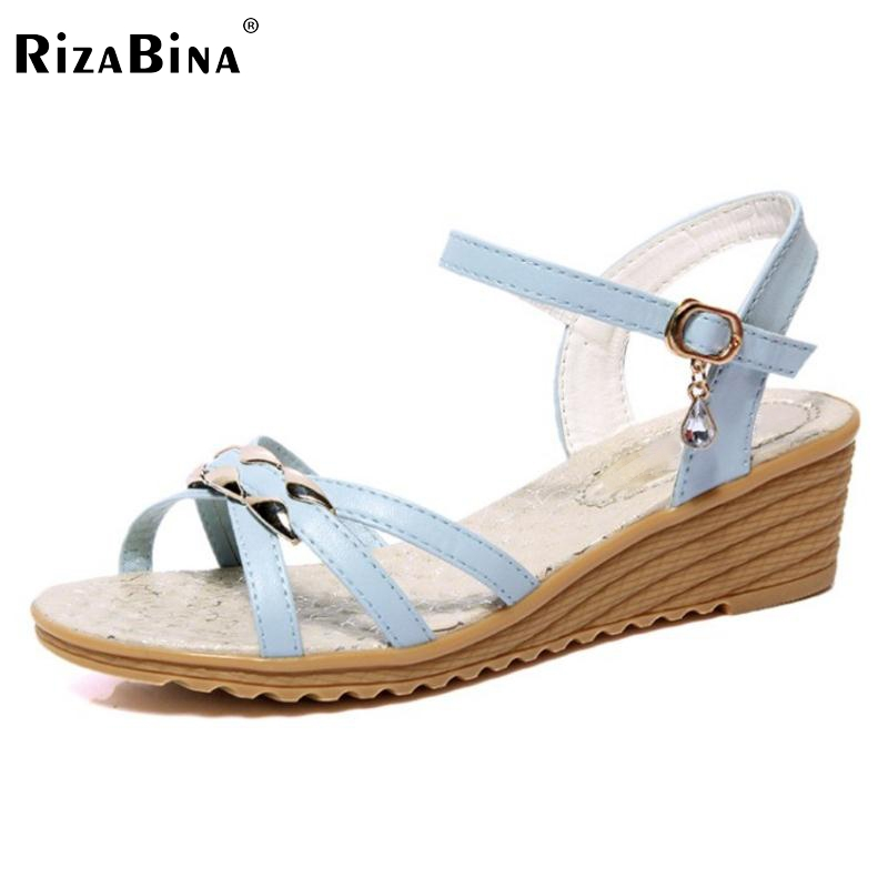 Women Wedges Sandals Open Peep Toe Leisure Shoes Women Ankle Strap Metal Sandals Cross Strap Buckle Women'S Footwear Size 35-39 elegant wedges open toe women sandals ankle buckle rivet shoe women cross tied women casual shoes rome hollowed out lady sandals