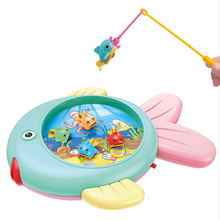 цена на MrY Fishing Toys Set  Kids Musical Toys Electric Fishing Game Toys Children Educational Gifts kids Magnetic Fishing Toy