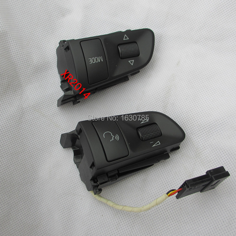 ФОТО Pair  Multifunction steering wheel switch button   For  AUDI A3 A4 A6 C6 Q5 Q7  RS4  4F0 951 527 C+4F0 951 527D