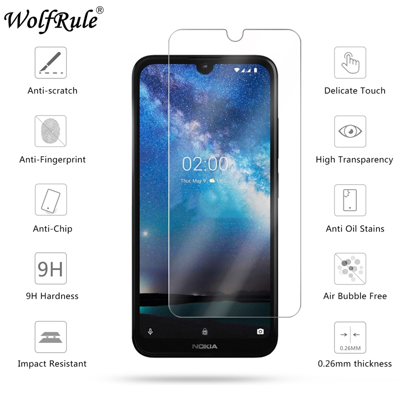 Screen-Protector Glass Nokia 2.2 Protective-Film for 9H Hardness