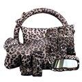 Универсальный набор с леопардовым принтом для девочек  набор с крышкой для ремня безопасности  ручной тормоз  Стайлинг автомобиля  руль 38 см...