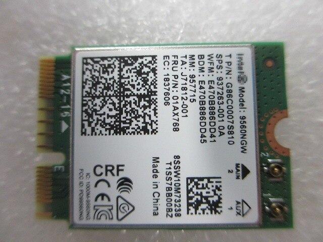 US $43 99 |Aliexpress com : Buy NEW CNVio / NGFF Key E interface Dual Band  Wireless AC 9560 9560AC 9560NGW NGFF + 5 0 Bluetooth from Reliable Network