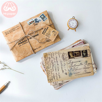 Mr.Paper 30pcs/box Retro Memories of Restoring Postcard Vintage Style Creative Stationery Writing Greeting Gift Postcards - discount item  18% OFF Printing Products