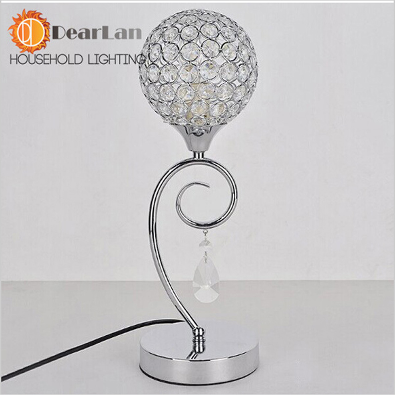 Modern Crystal Table Lamps For Bedroom,Living Room,Study,Office three Crystal Glass Desk Lamp Free Shipping new 2017 modern table lamps metal personalized desk lamp with glass shade for beside home decor for bedroom living room