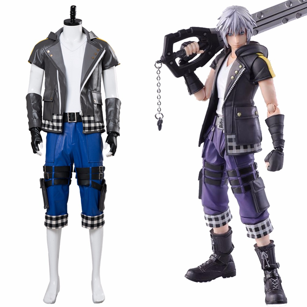 Kingdom Hearts III Riku Cosplay Costume Full Set Adult Mens Halloween Carnival Outfit Suit Custom Made