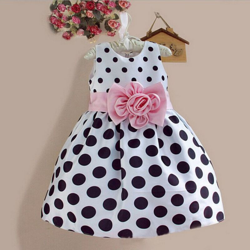 Summer Child Girl Dresses Kid Toddler Princess Dress Sleeveless Polka Dots Bowknot Dress kids toddler girls princess dress sleeveless polka dots bowknot party princess dresses summer dress