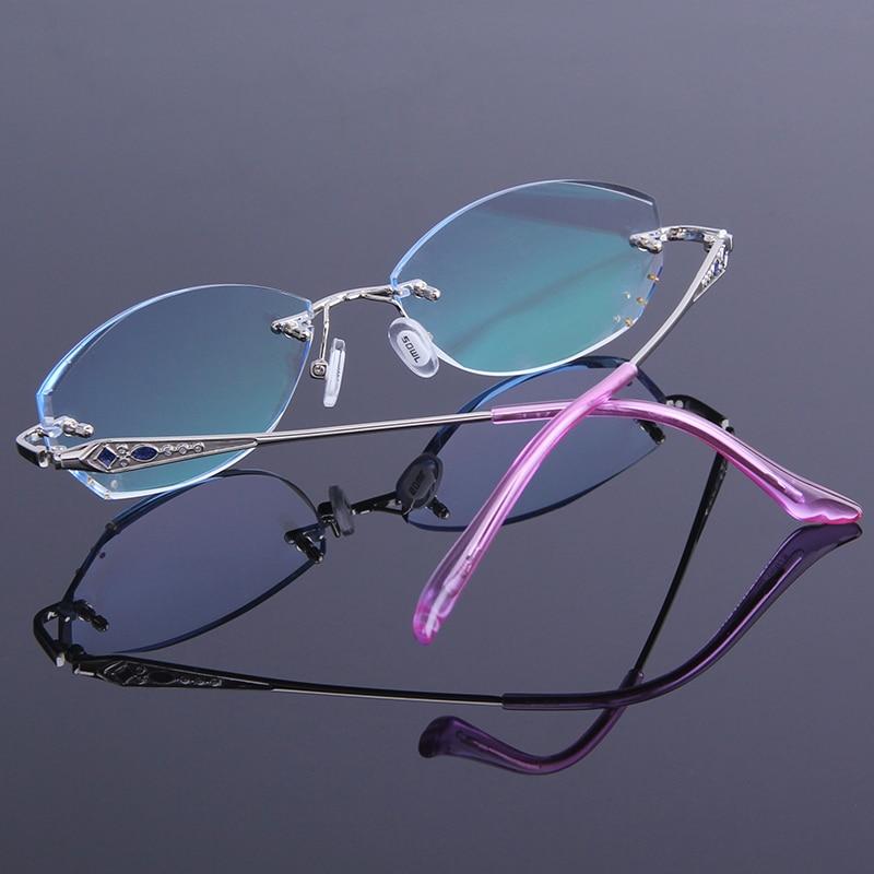 Marke Luxuriöse Presbyopie Mode Gläser Randlose Harte Anti Hyperopie Beschichtung Ultraleicht müdigkeit Frauen Harz Lesebrille wHaHgqZ6