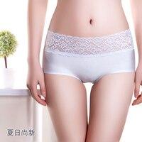 5 Pcs Lot Woman Underwear Women S Cotton Briefs Full Transparent Lace Solid Fashion Sexy Ladies