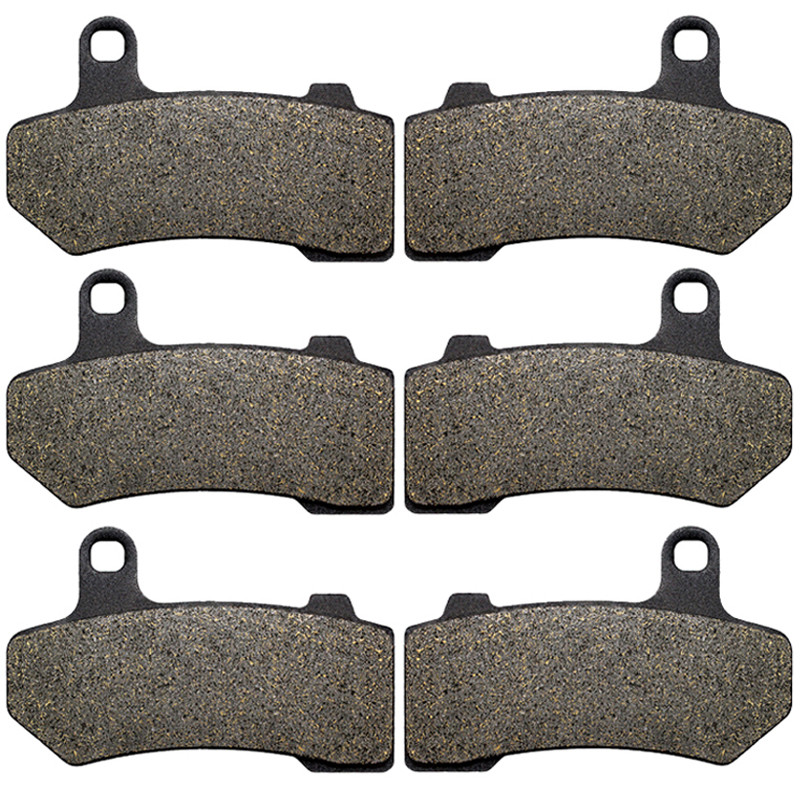 Motorcycle Front + Rear Brake Pads for HARLEY VRSCA VRSCB VRSCDX Night Rod Special (2007-2017) LT409-409-409(China)