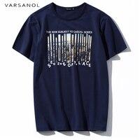 Varsanol Brand Cotton T Shirt Men High Quality Tshirt 2018 New Classic Tops Tees Fashion Short