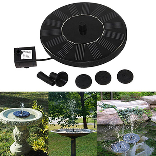 7V/1.4W Solar Power Water Floating Fountain Pump Garden Water Pump for Birdbath Pool Watering Wide Irrigation Pumps DropShipping