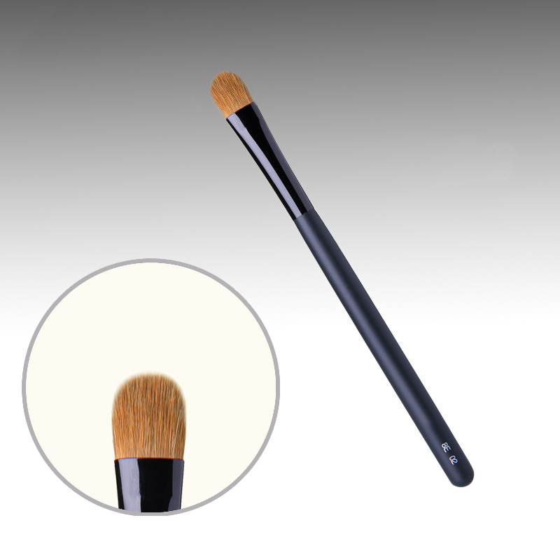 8E02 Professional Makeup Brushes Weasel Hair Eye Shadow Brush Black Handle Cosmetic Tools Eye Shader Make Up Brush 7e08 professional makeup brushes weasel hair eye shadow blending brush black handle cosmetic tools smoky eye make up brush