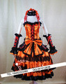 Data a vivo tokisaki kurumi traje cosplay vermelho