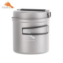 TOAKS 1100 ml Utensilios de Cocina Set Ultralight Titanium Sartén Olla de Taza de Titanio Titanium Tazón Acampar Al Aire Libre de Picnic
