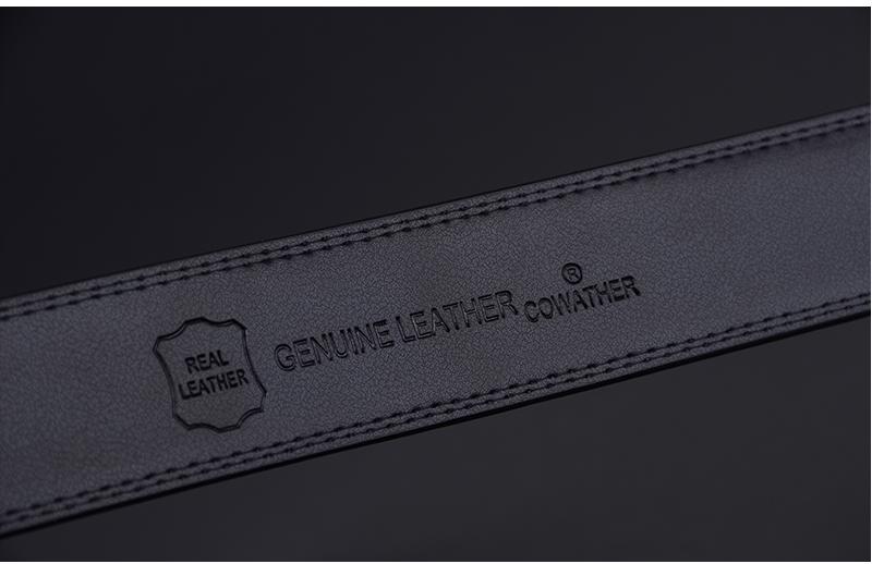 حزام COWATHER جلد طبيعي للرجال ذو جودة عالية 18