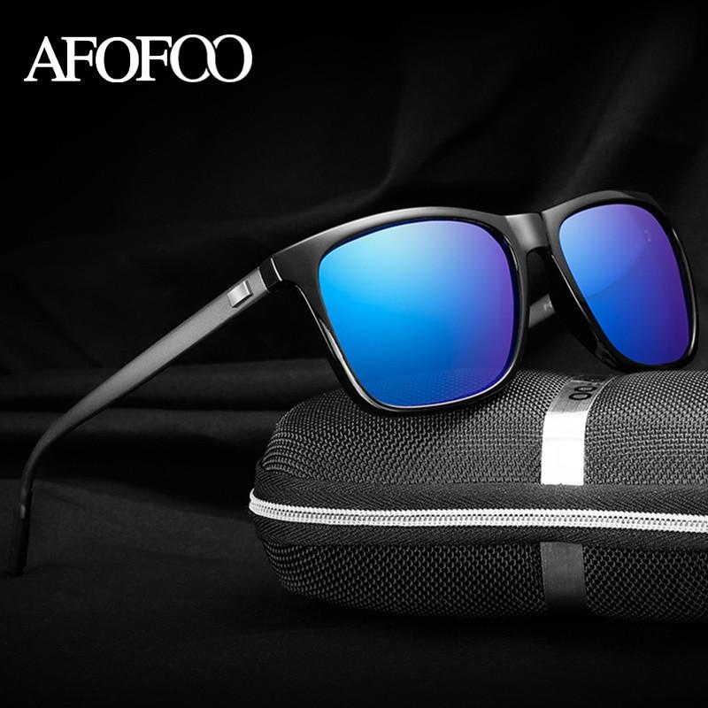 AFOFOO Brand Unisex Aluminum HD Polarized Sunglasses Vintage Men Driving Sun glasses UV400 Retro Women Shades Goggle Eyewear