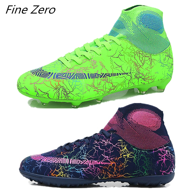 266e29327 Hot Sale Mens Soccer Cleats High Ankle Football Shoes Long Spikes Outdoor  Soccer Traing Boots For Men Women Soccer Shoes Child ~ Free Shipping June  2019