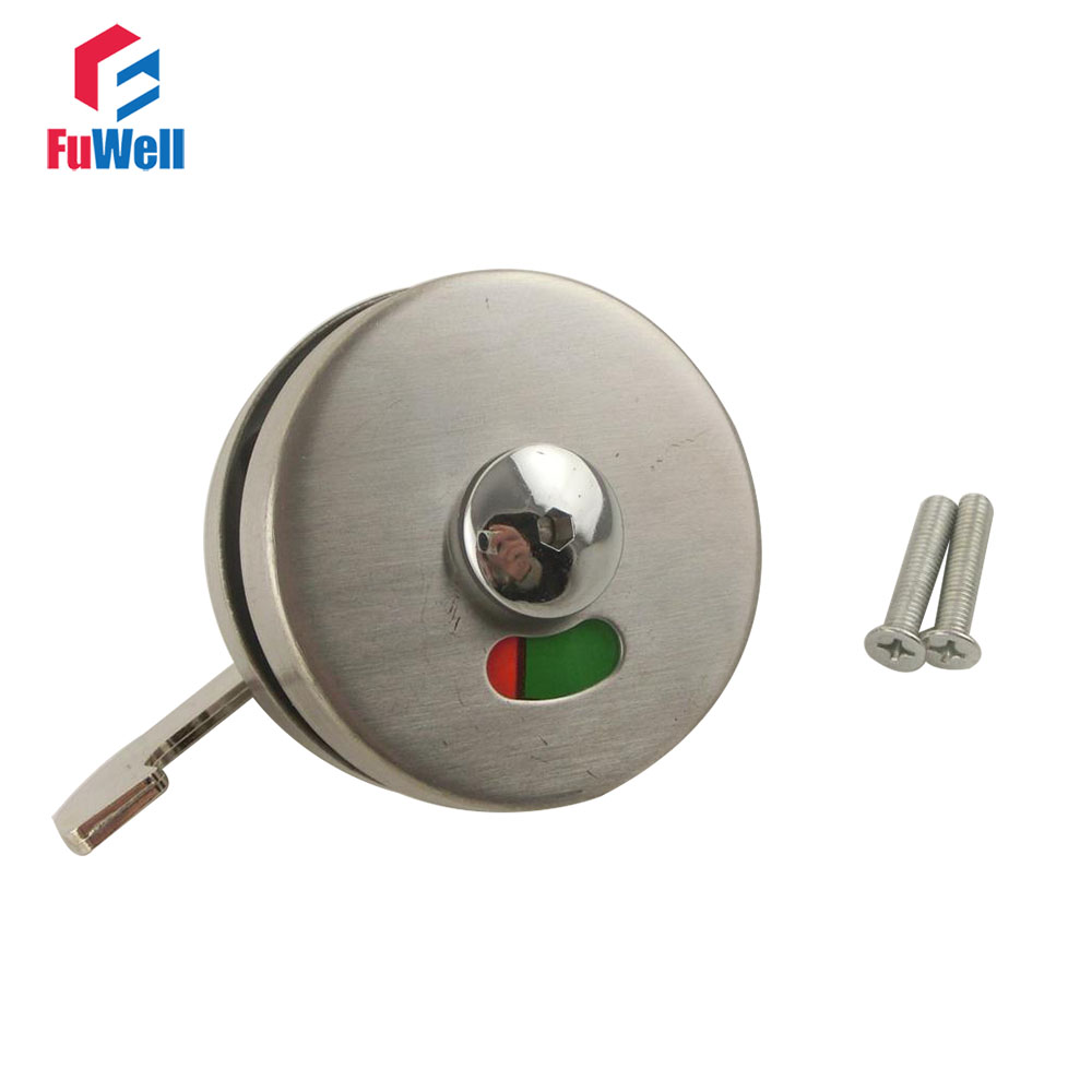 Stainless Steel Door Lock Instructions Public Restroom Toilet Partition Door Lock Vacant Engaged Indicator Bathroom Zopah public restroom 7 8pt dia male thread press type toilet flush valve adapter zmm