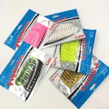 12pcs/bag  fishing soft lure fishing soft Artificial baits 60mm/1.81g soft bait for fishing free shipping 113