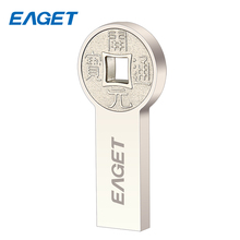 EAGET Waterproof Metal USB Flash Drive 16GB Encryption Personality USB 3.0 Flash Disk 32GB Memory Stick 64GB Round Gift Key K80