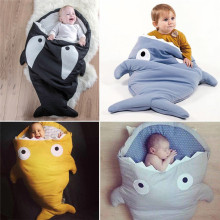 PUDCOCO Baby Sleeping Bag Shark Strollers Bed Blanket Swaddle Winer Sleep Sack Hot