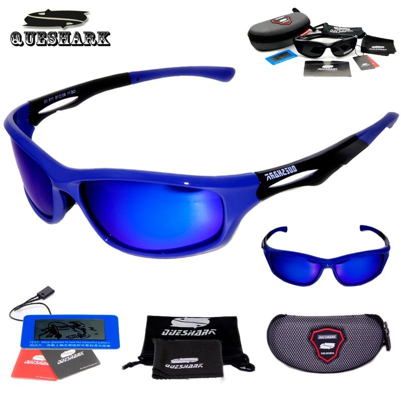 Queshark Men Women Polarized Cycling Sunglasses TR90 UV400 HD Sports Goggles Racing Bike Bicycle Glasses Fishing