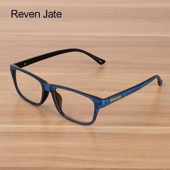 92c4d5bd6 Reven Jate نظارات الرجال والنساء للجنسين خشبية نمط الأزياء الرجعية مشهد بصري  النظارات نظارات إطار خمر