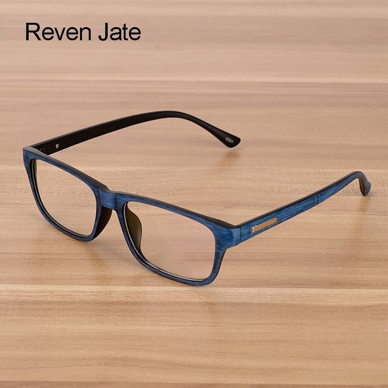 Reven Jate Eyewear Män och Kvinnor Unisex Trä Mönster Mode Retro Optisk Spektakel Glasögon Glasögon Vintage Eyewear
